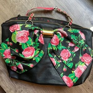 Betsey Johnson Floral Bow Handbag